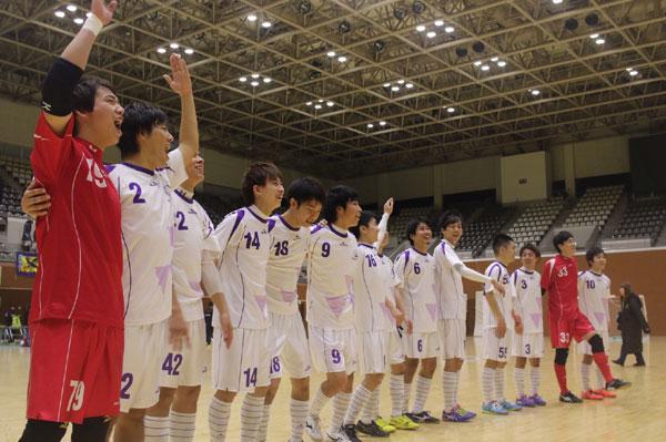 全日本フットサル選手権京都府大会で初優勝した同志社フットサルクラブTREBOL