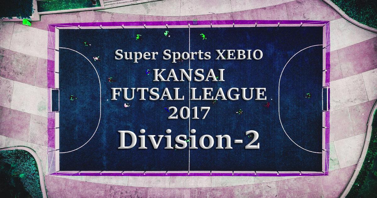 関西2部リーグ2017の結果をまとめてみました。